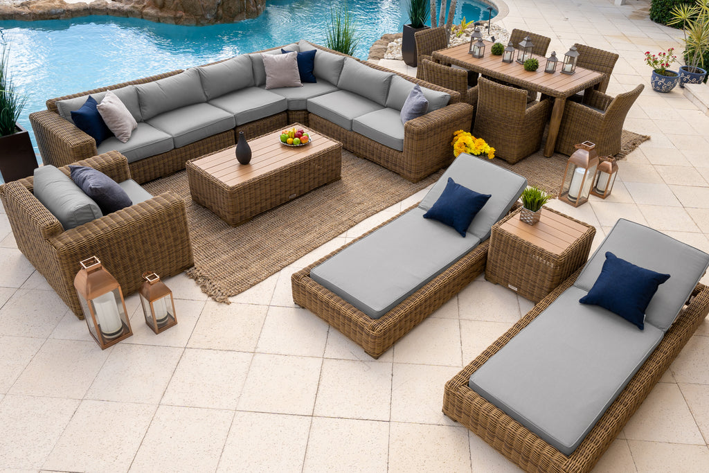 malmo 16 piece outdoor patio furniture bination set 2