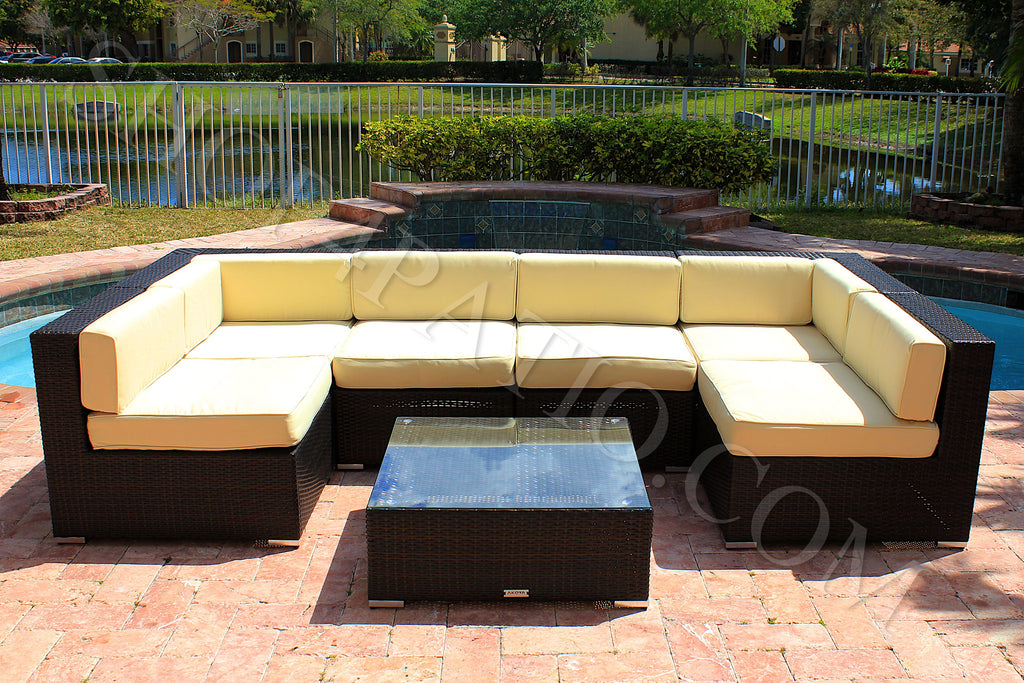 Image Modern Wicker Patio Furniture With Akoya Wicker Collection Piece Modern Outdoor Patio Furniture Sectional Sofa