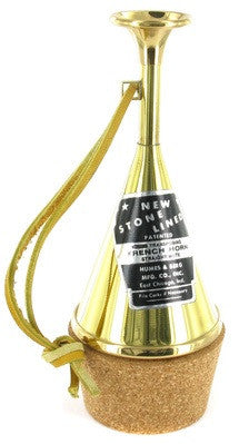 STONELINE FRENCH HORN STRAIGHT MUTE, TRANSPOSING,  ALL BRASS