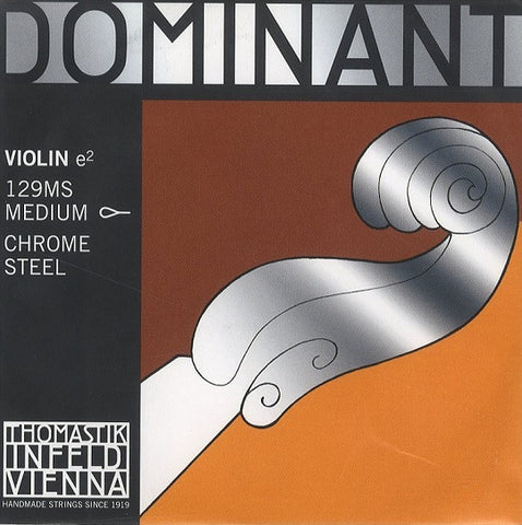 "THOMASTIK ""DOMINANT"" 4/4 VIOLIN ""E"" STRING, MED. STEEL, LOOP END"