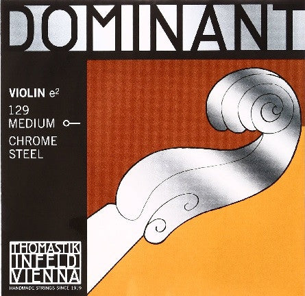 "THOMASTIK ""DOMINANT"" 4/4 VIOLIN ""E"" STRING, MED. STEEL, BALL END"