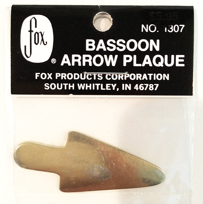 FOX BASSOON ARROW PLAQUE