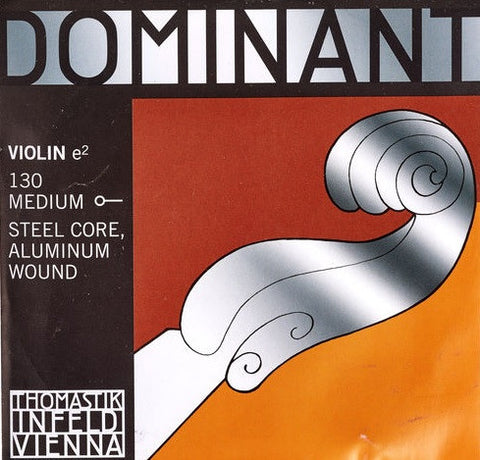 "THOMASTIK ""DOMINANT"" 4/4 VIOLIN ""E"" STRING, ALUM. WOUND, BALL END"