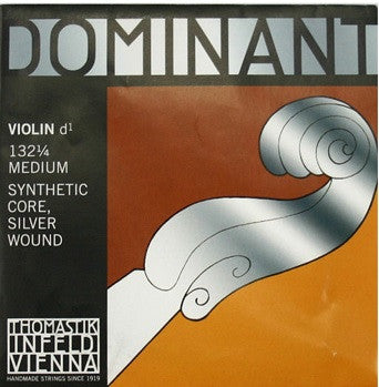 "THOMASTIK ""DOMINANT"" 1/4 VIOLIN ""D"" STRING, ALUM. WOUND, BALL END"