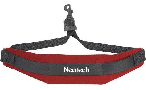 "NEOTECH ""SOFT"" SAX STRAP, RED, SWIVEL HOOK"