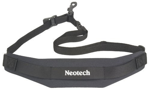 "NEOTECH ""NEO"" SAXOPHONE NECK STRAP SLING, X-LONG, BLACK, SWIVEL HOOK"