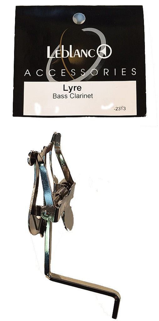 LEBLANC BASS CLARINET LYRE, NICKEL PLATED
