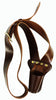 BELL LYRA OR FLAG HOLSTER CARRIER STRAP, DARK BROWN LEATHER