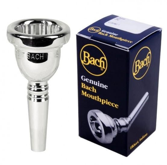 BACH CLASSIC TROMBONE MOUTHPIECE, SMALL SHANK, SILVER PLATED