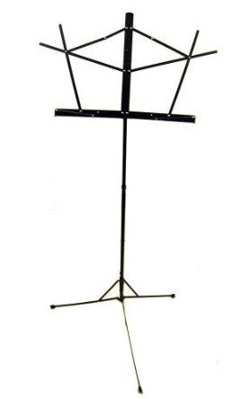 SELMER 2pc. FOLDING MUSIC STAND, BLACK  w/ CARRYING BAG