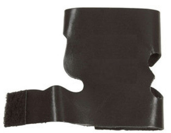 BACH TRUMPET VALVE GUARD, BLACK LEATHER, VELCRO
