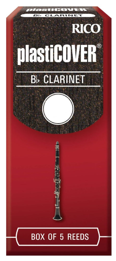 RICO PLASTICOVER CLARINET REEDS, BOX OF 5