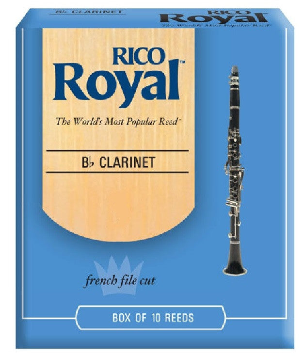 RICO ROYAL CLARINET REEDS, BOX OF 10
