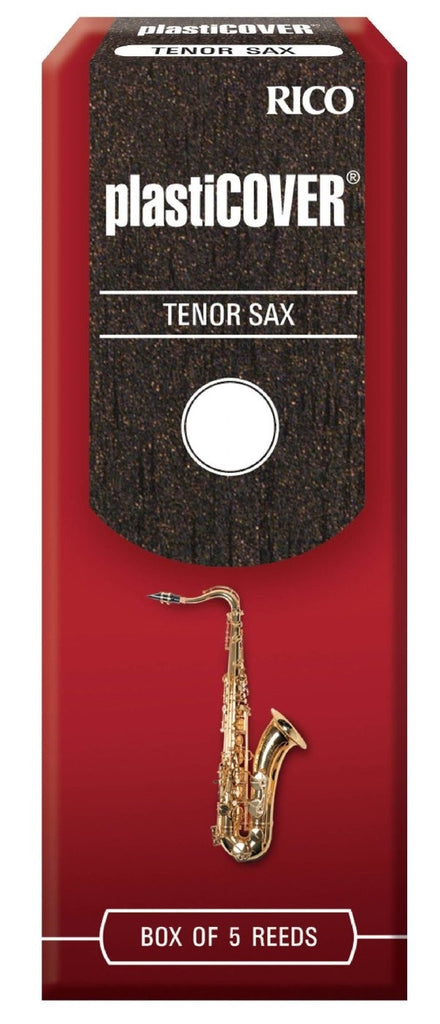 RICO PLASTICOVER TENOR SAX REEDS, BOX OF 5