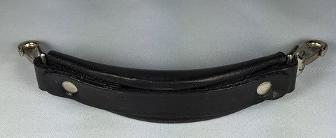"7"" LEATHER CLIP-ON CASE HANDLE, BLACK"