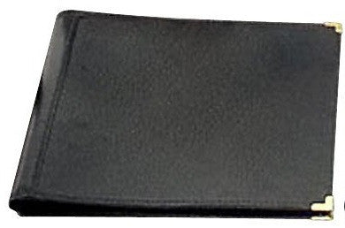 "DELUXE CONCERT FOLIO, BLACK LEATHER, 12"" X 14"", EXTENDED POCKETS"