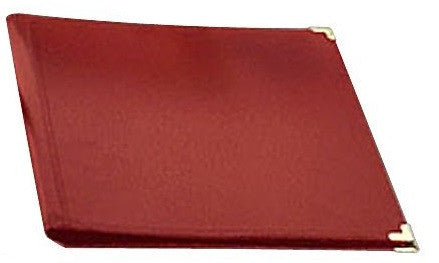 "DELUXE CONCERT FOLIO, RED LEATHER, 12"" X 14"", EXTENDED POCKETS"