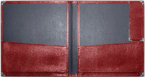 "DELUXE GRAND CONCERT BAND FOLIO WITH PENCIL POCKET – MAROON 12"" x 14"""