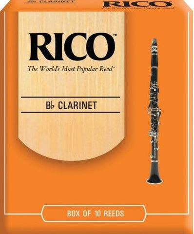RICO CLARINET REEDS, BOX OF 10