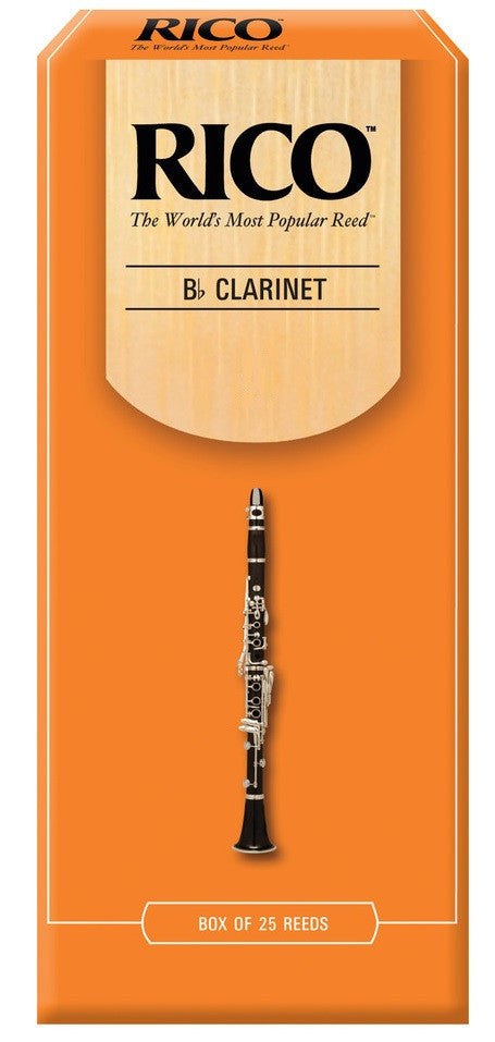 RICO CLARINET REEDS, BOX OF 25