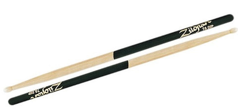 "#7A ZILDJIAN ""DIP GRIP"" DRUM STICKS, NYLON TIP, BLACK GRIP"