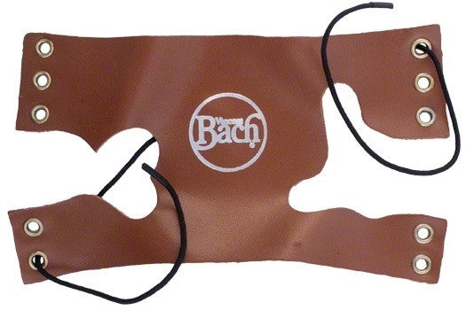 BACH TRUMPET VALVE GUARD, TAN LEATHER