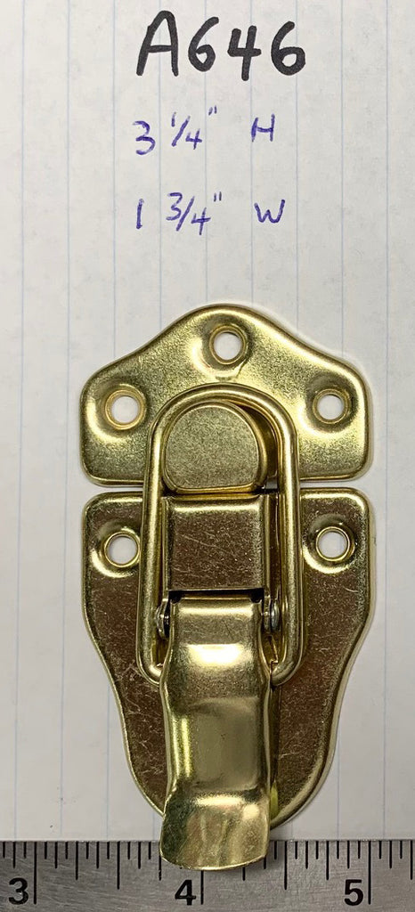 LARGE DRAW LATCH FOR LARGE CASES, BRASS PLATED