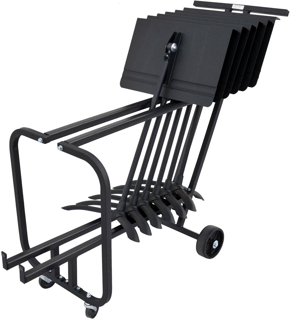 MANHASSET SHORT STORAGE CART, HOLDS 12 STANDS