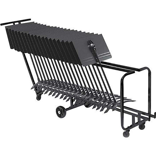 MANHASSET LONG STORAGE CART, HOLDS 25 STANDS