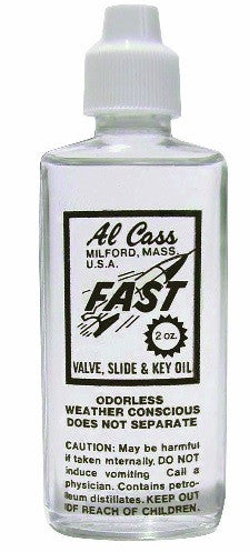 "AL CASS ""FAST"" VALVE OIL, 2 OZ. BOTTLE"