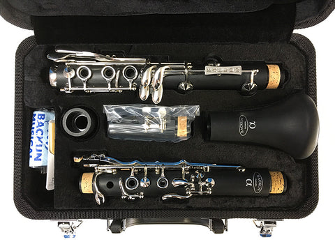 "BACKUN ""ALPHA"" Bb CLARINET, NICKEL PLATED KEYS"