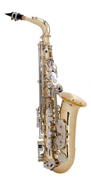 SELMER ALTO SAX, HIGH F#, LACQUERED BODY, NICKEL PLATED KEYS, ENGRAVED BELL