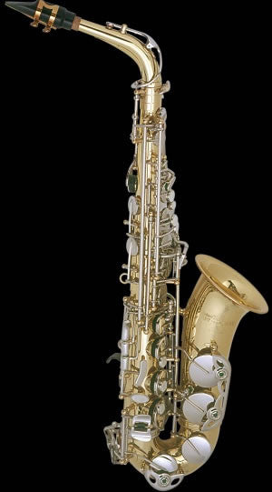 "SELMER ""ARISTOCRAT"" ALTO SAX, HIGH F#, LACQUERED BODY, NICKEL PLATED KEYS"