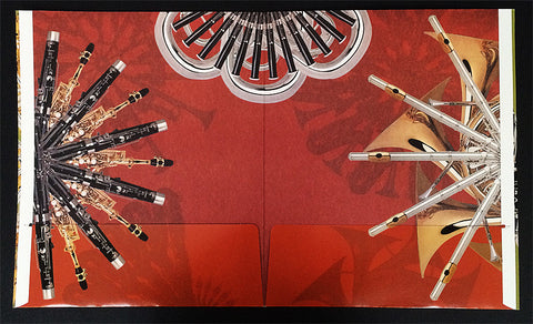 "LARGE CARDBOARD CONCERT BAND FOLIO, 11.75"" x 14"""