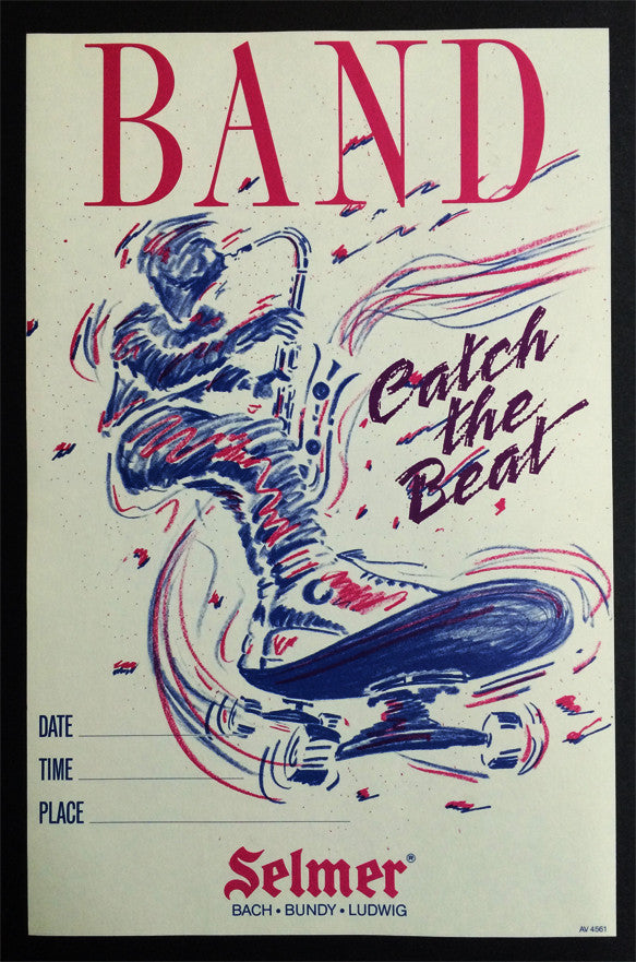 "POSTER, SELMER ""CATCH THE BEAT"" BAND RECRUITING"
