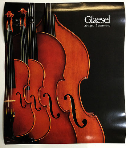 POSTER, GLAESEL STRINGED INSTRUMENTS