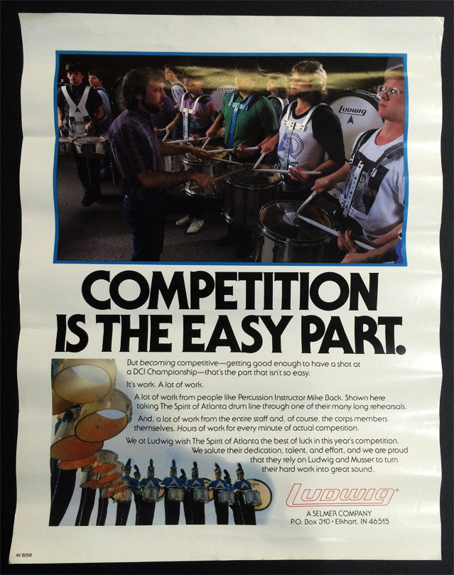 POSTER, ATLANTA BAND ON LUDWIG MARCHING PERCUSSION