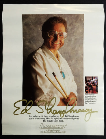 POSTER, ED SHAUGHNESSY ON LUDWIG PERCUSSION