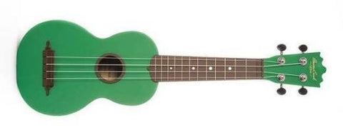"BEAVER CREEK ""ULINA"" ABS SOPRANO UKULELE, MATTE GREEN, w/ BAG"
