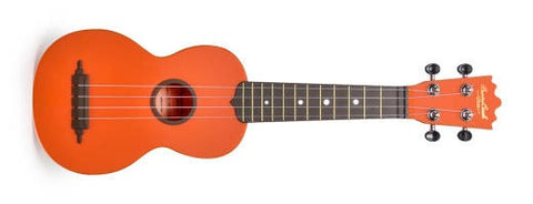 "BEAVER CREEK ""ULINA"" ABS SOPRANO UKULELE, MATTE ORANGE, w/ BAG"