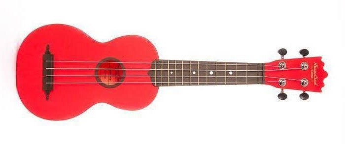 "BEAVER CREEK ""ULINA"" ABS SOPRANO UKULELE, MATTE RED, w/ BAG"