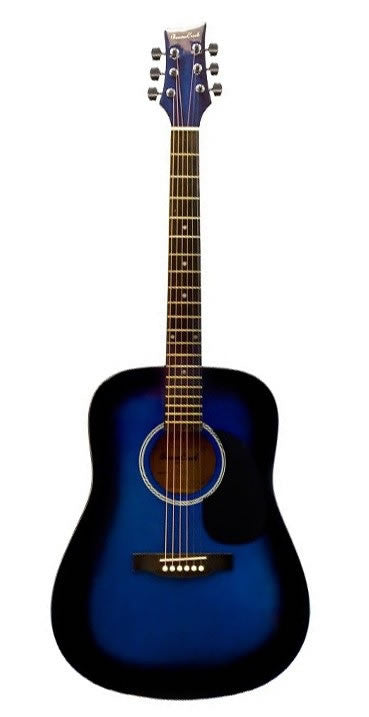 BEAVER CREEK 101 SERIES ACOUSTIC DREADNOUGHT GUITAR, BLUE