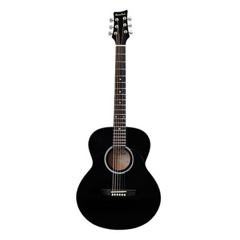 BEAVER CREEK 101 SERIES FOLK GUITAR, BLACK W/BAG
