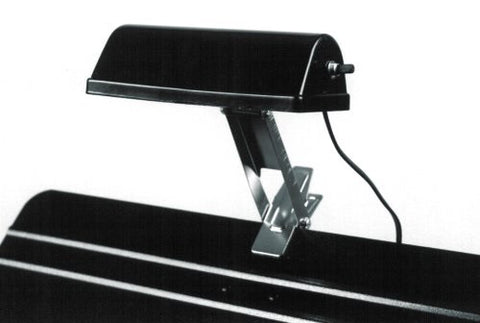 BAND STAND MUSIC STAND LIGHT, BLACK W/CHROME CLIP