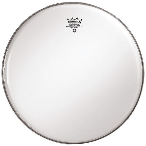 "REMO AMBASSADOR BASS DRUM HEAD, 18"" SMOOTH WHITE"