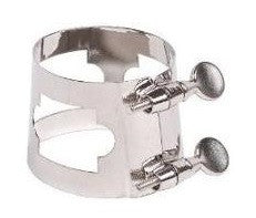 UNIVERSAL BARITONE SAX LIGATURE, MEDIUM FIT, NICKEL PLATED