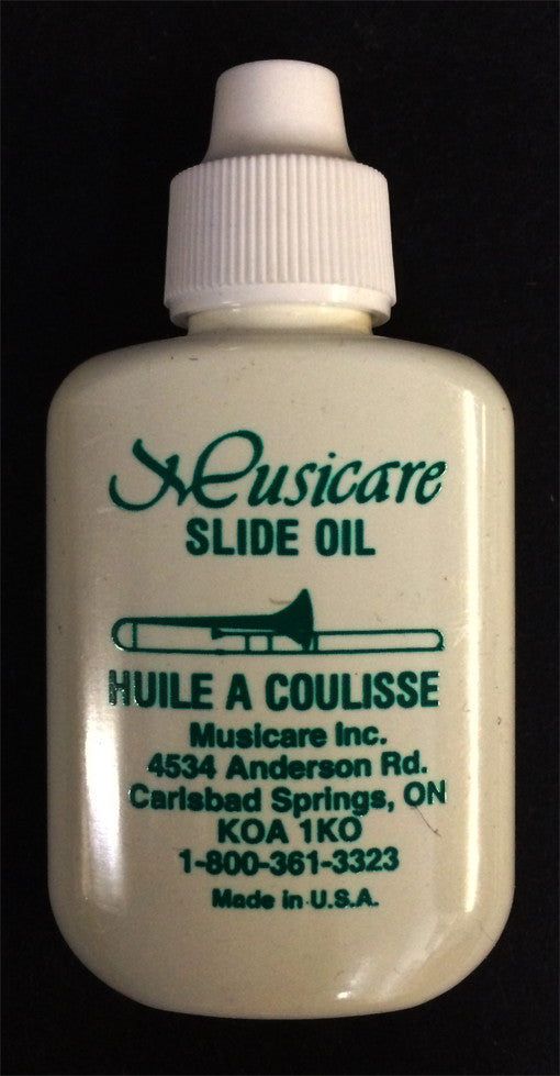 MUSICARE TROMBONE SLIDE OIL, 1 1/4 OZ.