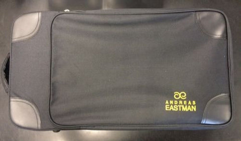 EASTMAN DOUBLE TRUMPET CASE, ADJUSTABLE BLOCKS, BLACK FABRIC