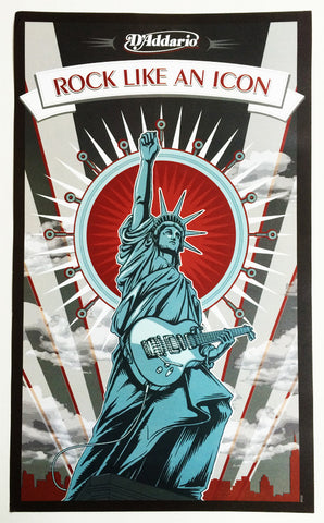 "POSTER, D'ADDARIO ""ROCK LIKE AN ICON"""