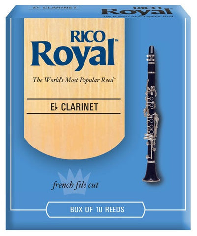RICO ROYAL E FLAT CLARINET REEDS, BOX OF 10